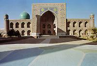 Tilla Kari, Tilya-Kori, Madrasah in Registan Square, Samarkand, Uzbekistan