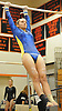 Alyson Rebenn of West Babylon performs on the uneven bars during the Suffolk County varsity girls' gymnastics individual championships at Babylon High School on Friday, November 6, 2015.<br /> <br /> James Escher