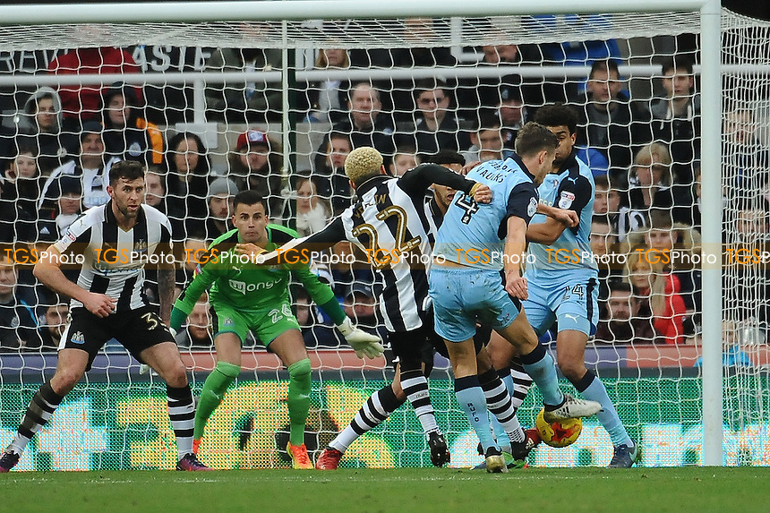 Will Vaulks of Rotherham United shoots during Newcastle United vs Rotherham United, Sky Bet EFL Championship Football at St. James' Park on 21st January 2017