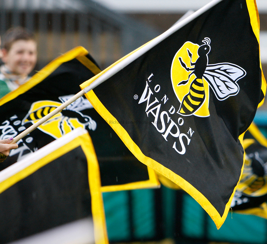 Photo: Richard Lane/Richard Lane Photography. London Wasps v London Irish. Pre Season Friendly. 24/08/2013. Wasps flags.