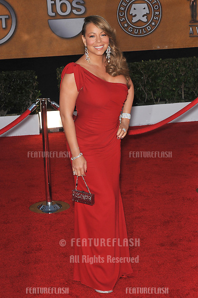 Mariah Carey at the 16th Annual Screen Actor Guild Awards at the Shrine Auditorium..January 23, 2010  Los Angeles, CA.Picture: Paul Smith / Featureflash