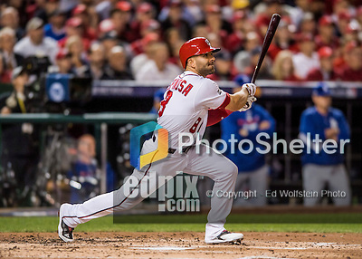 13 October 2016: Washington Nationals shortstop Danny Espinosa in action during Game 5 of the NLDS against the Los Angeles Dodgers at Nationals Park in Washington, DC. The Dodgers edged out the Nationals 4-3, to take Game 5 of the Series, 3 games to 2, and move on to the National League Championship Series against the Chicago Cubs. Mandatory Credit: Ed Wolfstein Photo *** RAW (NEF) Image File Available ***