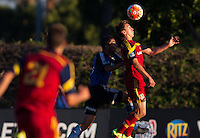 "Carson, Calif. - Thursday, July 16, 2015: U-18 Real Salt Lake vs San Jose Earthquakes during playoffs at the 2014-15 US Soccer Development Academy Finals week at Glenn ""Mooch"" Myernick Field at StubHub Center."
