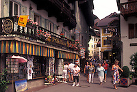 Austria, St. Wolfgang, Salzkammergut, Oberosterreich, Shops in the resort town of Saint Wolfgang.