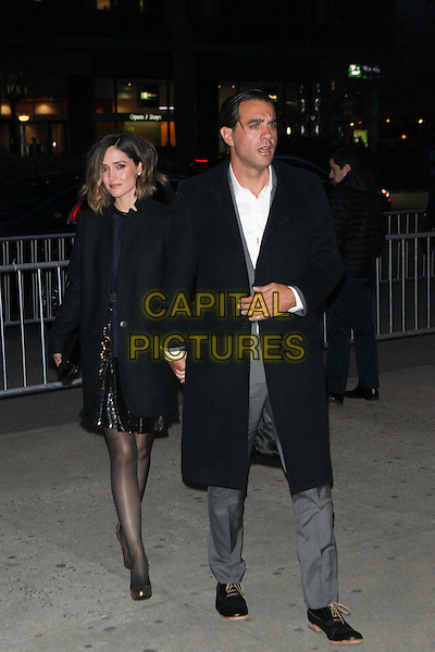NEW YORK - MARCH 18: Rose Byrne and Bobby Cannavale arrive at the 'Danny Collins' New York Premiere at AMC Lincoln Square Theater on March 18, 2015 in New York City. <br /> CAP/MPI/COR99<br /> &copy;COR99/MPI/Capital Pictures