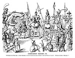 Unrecorded History. III. If Richard the Third had a little weakness, it was for escorting small parties to see The Tower of London! He was so fond of children!!! (a Victorian cartoon shows Richard III taking children to see the Torture Chamber, Block and Dungeon)