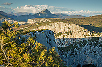 Verdon Gorge at sunset, France