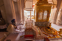 Asia,India,Punjab, Amristar, Golden temple,Palki Sahib where is the Sikh holy book, every morning there is a ceremony to open the book