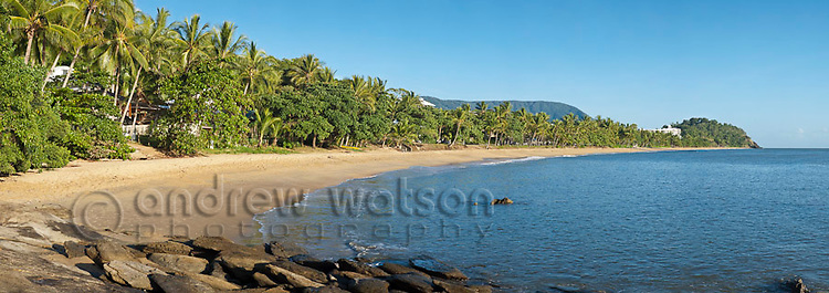 View along Trinity Beach, Cairns, Queensland, Australia