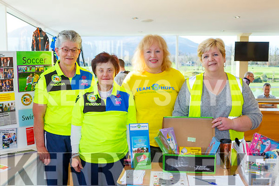 Joan O'Connor, Breda Healy Kerry Stars with Margaret Scully and Josie Real from Team Hope at the Kerry Clubs Fair day in Killarney on Sunday