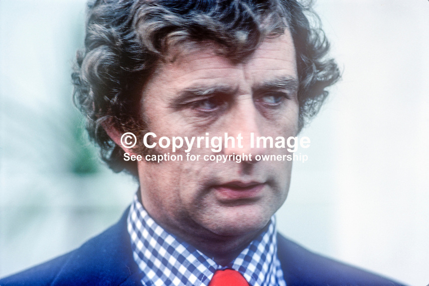 Robert Molloy, aka Bobbie Molloy, TD, Fianna Fail, Rep of Ireland, Defence Minister, July, 1978, 1978070085<br />