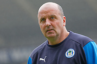 Paul Cook, manager for Wigan Athletic walks on the pitch  prior to the Sky Bet Championship match between Swansea City and Wigan Athletic at the Liberty Stadium, Swansea, Wales, UK. Saturday 29 December 2018
