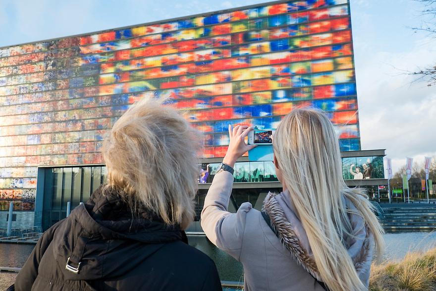 Nederland, Hilversum, 10 jan 2014<br /> Beeld en Geluid, museum van de omroepgeschiedenis op media park Hilversum<br /> Foto: Michiel Wijnbergh