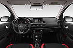 Stock photo of straight dashboard view of a 2019 KIA Picanto GT Line 5 Door Hatchback