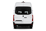Straight rear view of a 2019 Mercedes Benz Sprinter-Crew-Van Base 4 Door Combi stock images