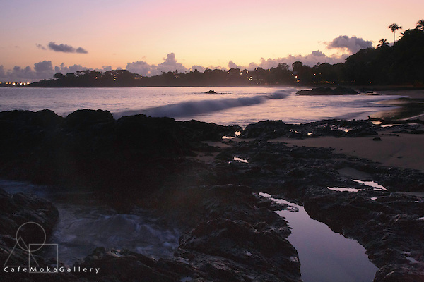 Stonehaven bay at dawn, Tobago, long exposure