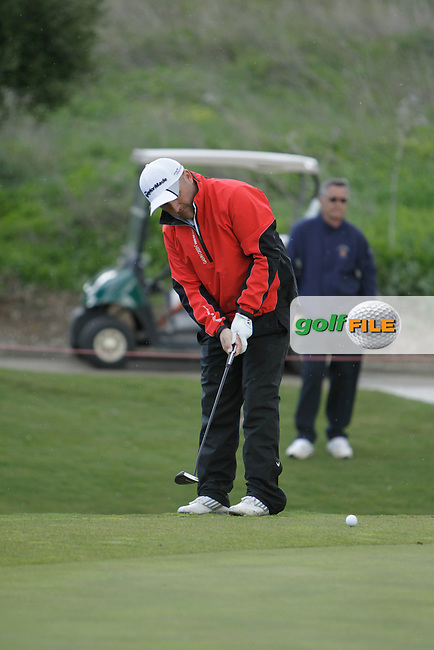 Damien McGrane (IRL) during Round 1 of the NH Collection Open at the La Reserva de Sotogrande Club de Golf in Cadiz Spain on Thursday 3rd April 2014<br /> Picture:  Thos Caffrey / www.golffile.ie