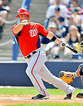 5 March 2011: Washington Nationals' catcher Derek Norris in action during a Spring Training game against the New York Yankees at George M. Steinbrenner Field in Tampa, Florida. The Nationals defeated the Yankees 10-8 in Grapefruit League action. Mandatory Credit: Ed Wolfstein Photo