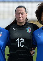 20180302 - LARNACA , CYPRUS : Italian Chiara Marchitelli pictured during a women's soccer game between Italy and Wales , on friday 2 March 2018 at GSZ Stadium in Larnaca , Cyprus . This is the second game in group A for Italy and Wales during the Cyprus Womens Cup , a prestigious women soccer tournament as a preparation on the World Cup 2019 qualification duels. PHOTO SPORTPIX.BE | DAVID CATRY