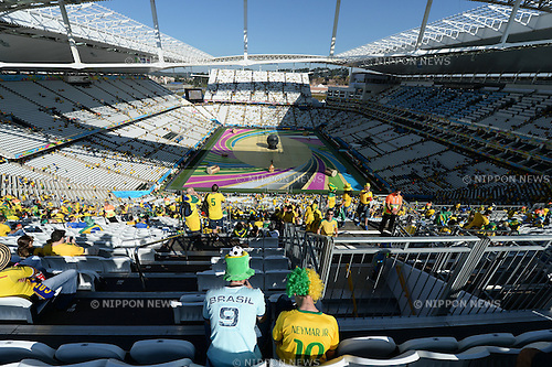 Brazil fans (BRA),<br /> JUNE 12, 2014 - Football / Soccer :<br /> A general view inside of Arena de Sao Paulo before the opening ceremony before the FIFA World Cup Brazil 2014 Group A match between Brazil 3-1 Croatia in Sao Paulo, Brazil. (Photo by FAR EAST PRESS/AFLO)