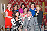 FASHION SHOW: Fashion guru Ceclia Holman Lee Kilmoyley NS Fashion Show at the at the Ballyroe Heights hotel on Thursday seated l-r: Ceclia Holman Lee and Danny Leane. Back l-r: Mary Landy, Sharon Howard, Rosemarie Lawlor, Catriona Rohan, Anne Leane and Maura Johnston.