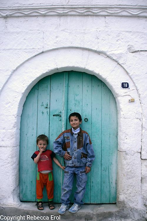 Turkish boys in Goreme, Cappadocia, Turkey