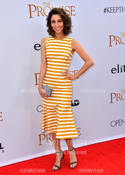 Necar Zadegan at the premiere for &quot;The Promise&quot; at the TCL Chinese Theatre, Hollywood. Los Angeles, USA 12 April  2017<br /> Picture: Paul Smith/Featureflash/SilverHub 0208 004 5359 sales@silverhubmedia.com