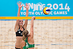 Beachvolleyball, Youth Olympic Games 2014, Halbfinale