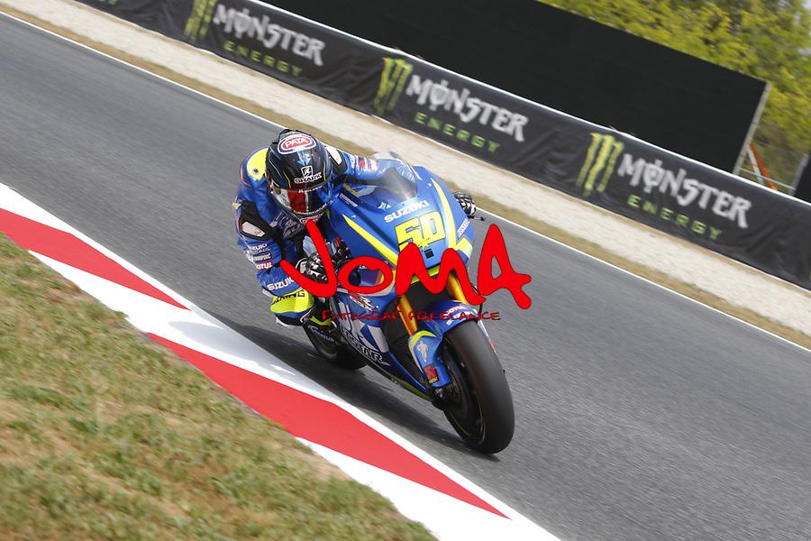 Sylvain Guintoli (FRA) Team Suzuki ECSTAR, Moto GP, Free practice, Gran Premi Monster Energy de Catalunya