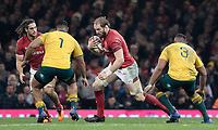 Wales' Alun Wyn Jones<br /> <br /> Photographer Simon King/CameraSport<br /> <br /> International Rugby Union - 2017 Under Armour Series Autumn Internationals - Wales v Australia - Saturday 11th November 2017 - Principality Stadium - Cardiff<br /> <br /> World Copyright &copy; 2017 CameraSport. All rights reserved. 43 Linden Ave. Countesthorpe. Leicester. England. LE8 5PG - Tel: +44 (0) 116 277 4147 - admin@camerasport.com - www.camerasport.com