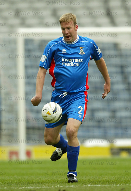 Ross Tokely, Inverness Caledonian Thistle.stock season 2003-2004.pic willie vass