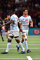 (R-L) Dan Carter of Racing 92 and Yannick Nyanga of Racing 92 during the French Top 14 match between Racing 92 and La Rochelle at U Arena on February 18, 2018 in Nanterre, France. (Photo by Dave Winter/Icon Sport)