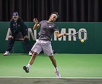 Rotterdam, Netherlands, 11 februari, 2017, ABNAMROWTT,  Qualyfying round, Ruben Bemelmans <br /> (BEL)<br /> Photo: Henk Koster