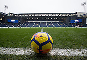 2nd December 2017, The Hawthorns, West Bromwich, England; EPL Premier League football, West Bromwich Albion versus Crystal Palace; General view of a Premier League football on the side line with the pitch and stands in the background