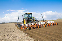 Combination cultivation and sugar beet drilling with RTK autosteer - Lincolnshire, March