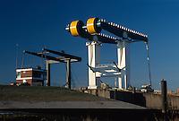 Deutschland, Sperrwerk Estemündung in Hamburg-Cranz