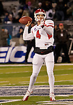 November 10, 2012:  Fresno State Bulldogs quaterback Derek Carr throws against the Nevada Wolf Pack during their NCAA football game played at Mackay Stadium on Saturday night in Reno, Nevada.