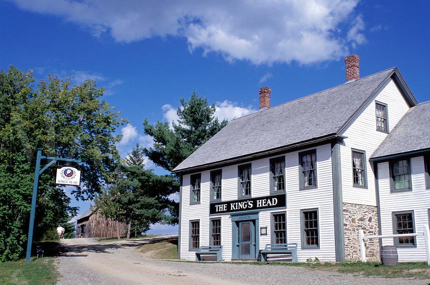 New Brunswick, NB, Canada, King's Head Inn at King's Landing Historical Settlement