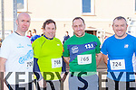 Stephen Griffin Beaufort, Karl Sloan Caragh Lake, Karl Daly Milltown and Michael O'Callaghan Killorglin who competed in the Jingle run in Killorglin on Saturday