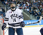 Broc Little (Yale - 14) - The Yale University Bulldogs defeated the Air Force Academy Falcons 2-1 (OT) in their East Regional Semi-Final matchup on Friday, March 25, 2011, at Webster Bank Arena at Harbor Yard in Bridgeport, Connecticut.