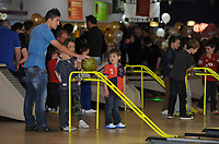 Pictured: Pablo Hernandez. Wednesday 15 November 2012<br /> Re: Swansea City FC players have played bowling at the Tenpin bowling alley at Parc Tawe, Swansea, south Wales.
