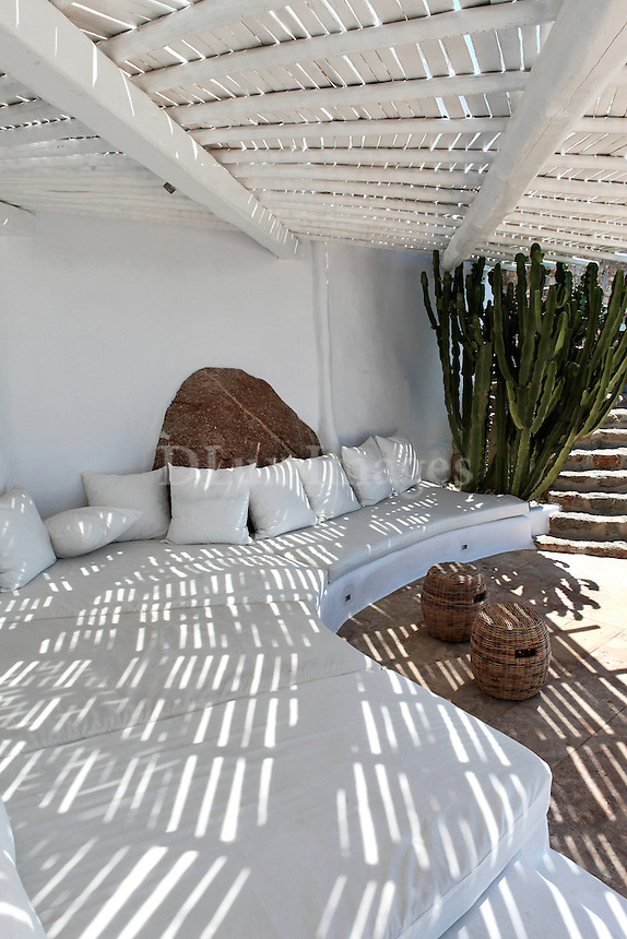cycladic white patio