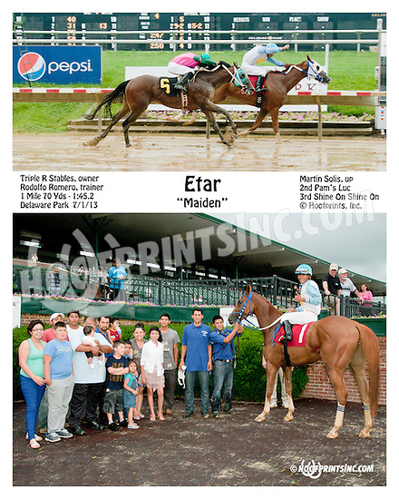Etar winning at Delaware Park on 7/1/13