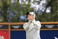 Alexander Bjork (SWE) tees off the 8th tee during Sunday's Final Round of the 2017 Omega European Masters held at Golf Club Crans-Sur-Sierre, Crans Montana, Switzerland. 10th September 2017.<br /> Picture: Eoin Clarke | Golffile<br /> <br /> <br /> All photos usage must carry mandatory copyright credit (&copy; Golffile | Eoin Clarke)