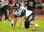 Lawndale, CA 09/26/14 - Luke Megginson (Peninsula #78) in action during the Palos Verdes Peninsula vs Lawndale CIF Varsity football game at Lawndale High School.  Lawndale defeated Peninsula 42-21