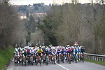 The peloton in action during the 2017 Strade Bianche Women Elite race running 127km from Siena to Siena, Tuscany, Italy 4th March 2017.<br /> Picture: LaPresse/Fabio Ferrari   Newsfile<br /> <br /> <br /> All photos usage must carry mandatory copyright credit (&copy; Newsfile   LaPresse/Fabio Ferrari)