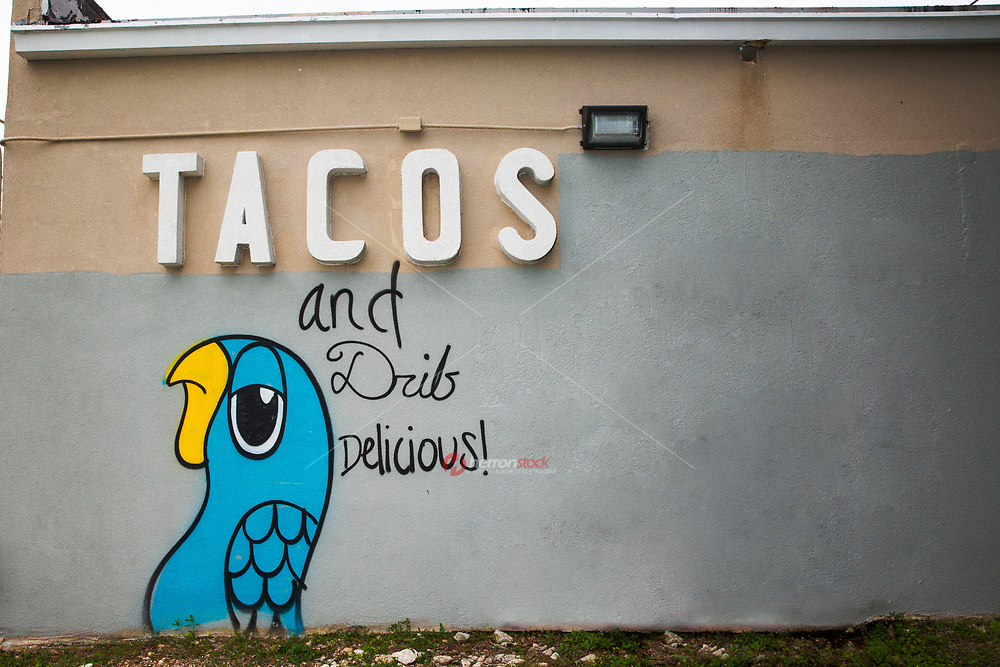 """TACOS and Drib Delicious!"" is a beloved graffiti art painting on the side of a gas station at RM 2222 and Mopac in north Austin, Texas. Austin loves its street art and graffiti artists."