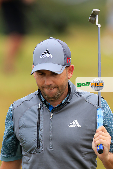 Sergio Garcia (ESP) walks to the 15th tee during Sunday's Round 3 of the 144th Open Championship, St Andrews Old Course, St Andrews, Fife, Scotland. 19/07/2015.<br /> Picture Eoin Clarke, www.golffile.ie