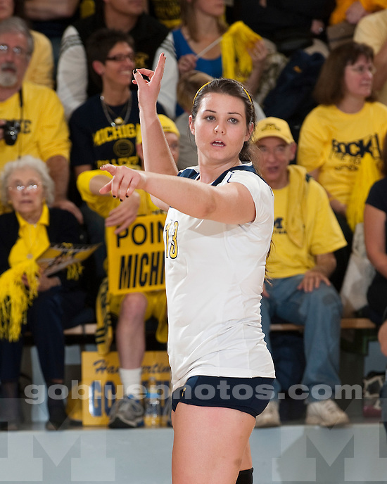 University of Michigan volleyball 3-0 victory over Ohio State at Cliff Keen Arena in Ann Arbor, MI, on November 6, 2010.