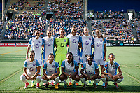 Seattle, WA - Sunday, May 21, 2017: Orlando Pride starting eleven during a regular season National Women's Soccer League (NWSL) match between the Seattle Reign FC and the Orlando Pride at Memorial Stadium.